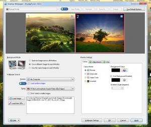 Установить разные обои на разные мониторы в Windows 7